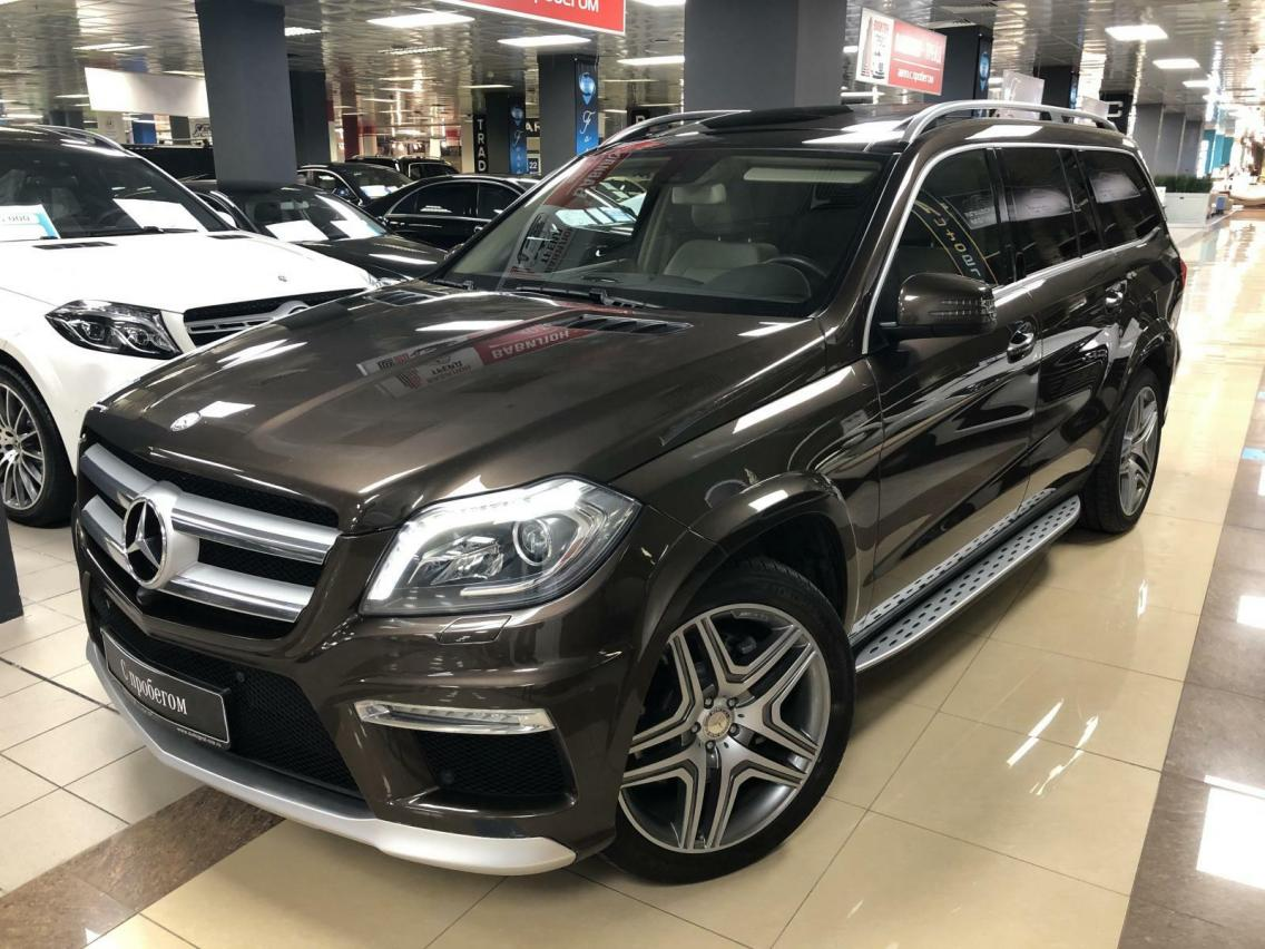 Фотография 1 Mercedes-Benz GL-Класс X166 GL 350 BlueTec 7G-Tronic Plus 4Matic (249 л.с.)  2014 WDC1668241A507136 Н366ОХ777 Коричневый