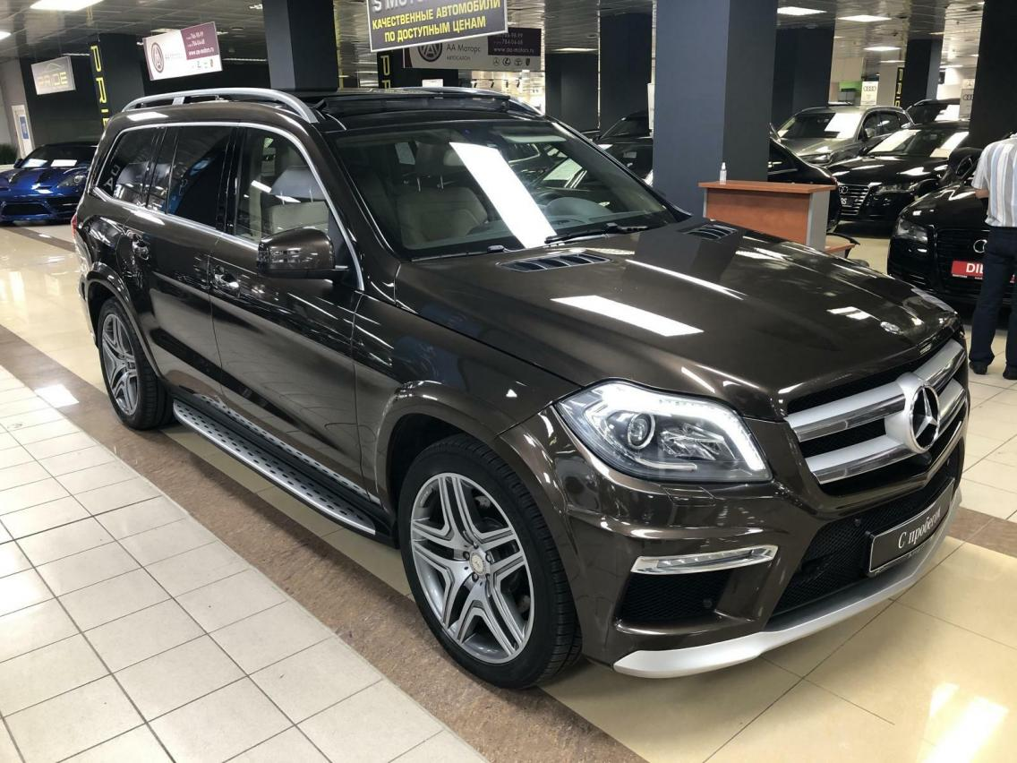 Фотография 2 Mercedes-Benz GL-Класс X166 GL 350 BlueTec 7G-Tronic Plus 4Matic (249 л.с.)  2014 WDC1668241A507136 Н366ОХ777 Коричневый