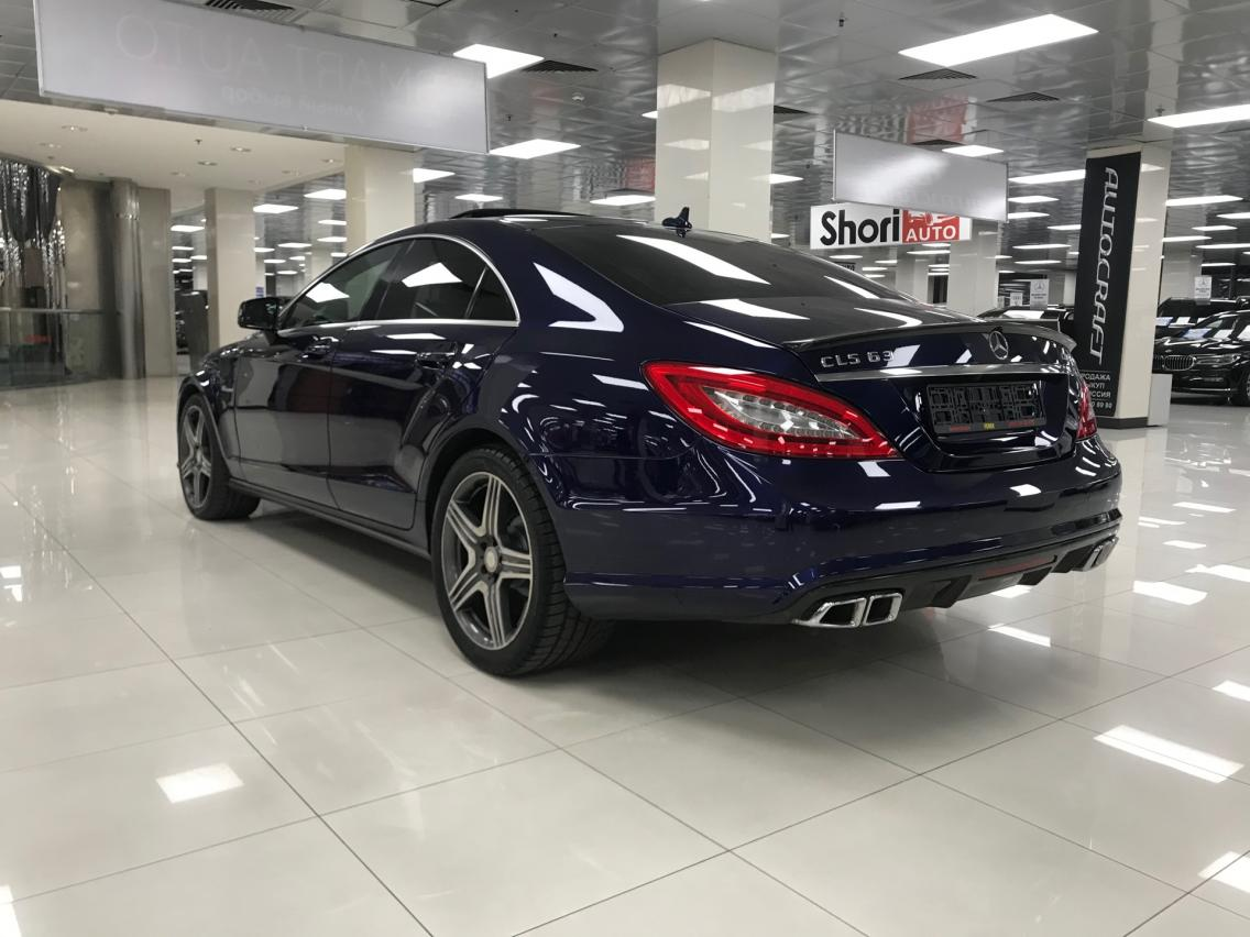 Фотография 3 Mercedes-Benz CLS-Класс C218/X218 [рестайлинг] CLS 63 AMG Speedshift MCT 4Matic (557 л.с.)  2014 WDD2183921A120159 А918КТ07 Синий