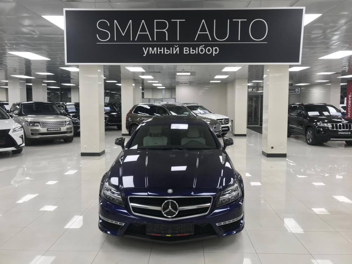 Фотография 1 Mercedes-Benz CLS-Класс C218/X218 [рестайлинг] CLS 63 AMG Speedshift MCT 4Matic (557 л.с.)  2014 WDD2183921A120159 А918КТ07 Синий