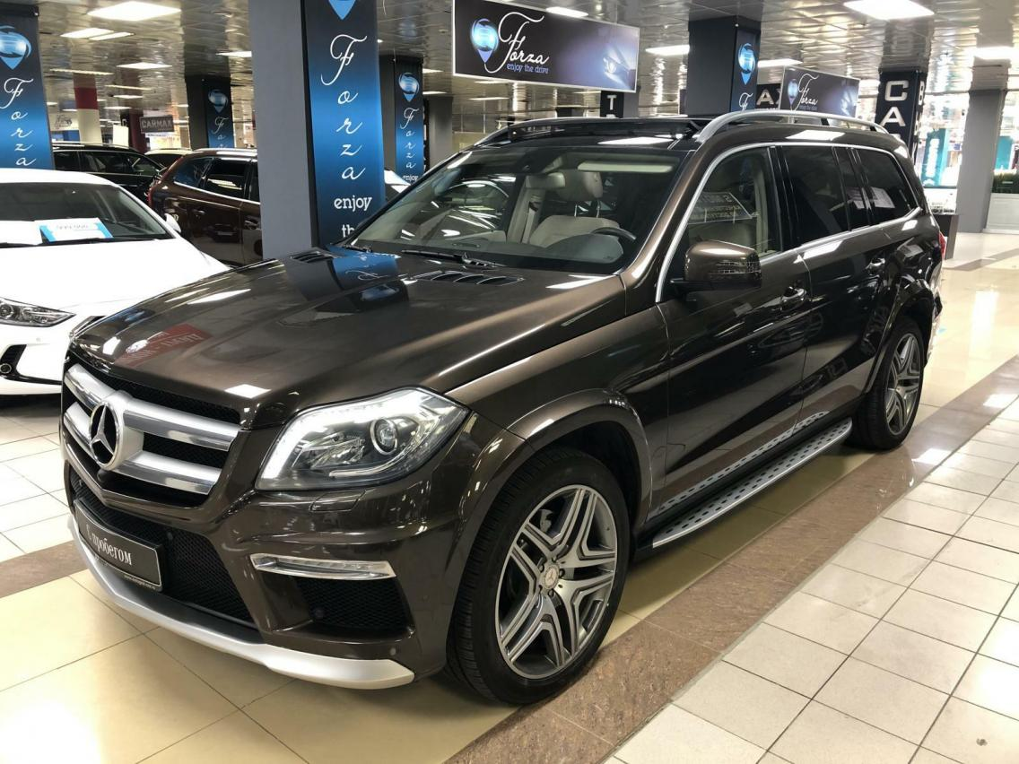 Фотография 4 Mercedes-Benz GL-Класс X166 GL 350 BlueTec 7G-Tronic Plus 4Matic (249 л.с.)  2014 WDC1668241A507136 Н366ОХ777 Коричневый