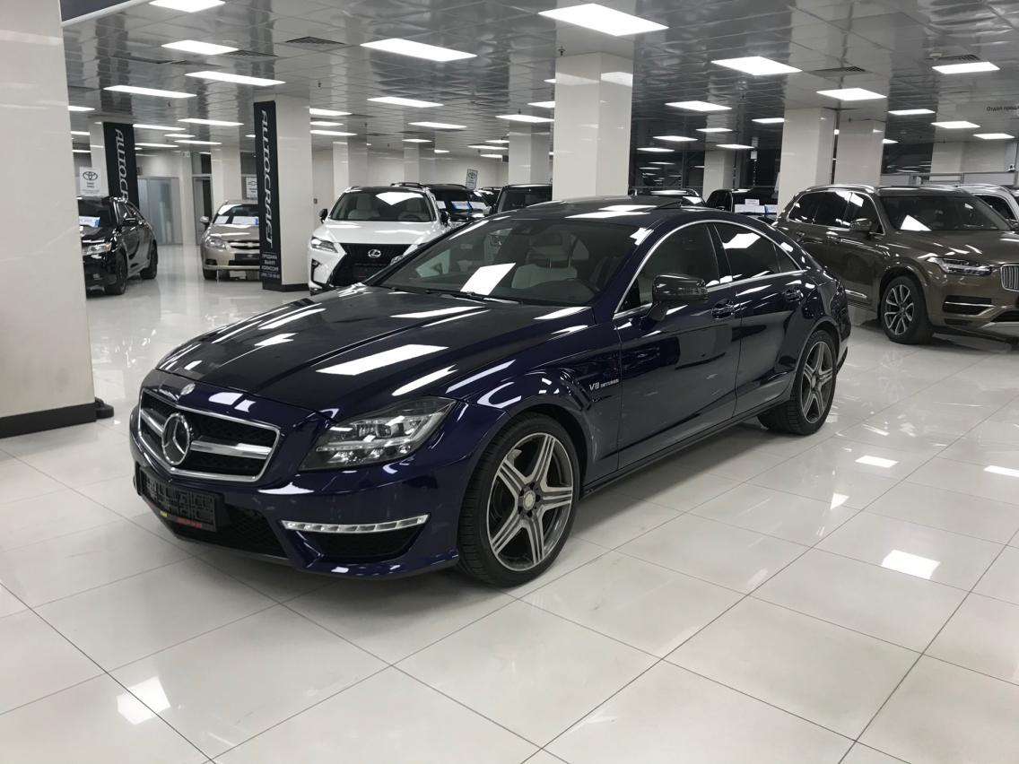 Фотография 2 Mercedes-Benz CLS-Класс C218/X218 [рестайлинг] CLS 63 AMG Speedshift MCT 4Matic (557 л.с.)  2014 WDD2183921A120159 А918КТ07 Синий